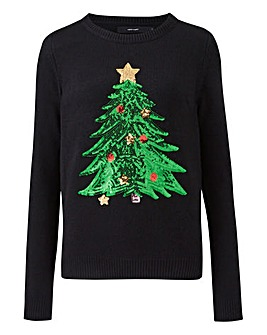 Vero Moda Christmas Tree Sequin Jumper