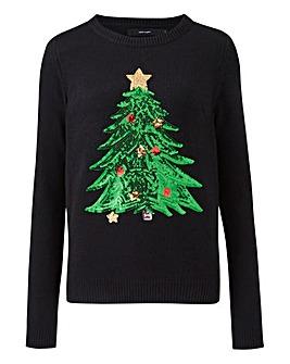 Vero Moda Christmas Tree Sequin Jumper