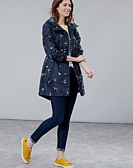 Joules Printed Waterproof Packaway Coat