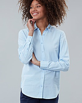 Joules Woven Shirt With Embroidered Collar