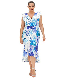 Quiz Curve Floral Fishtale Dress