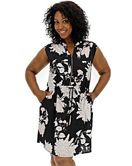 Quiz Curve Floral Print Shift Dress