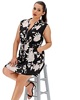 Quiz Curve Floral Print Shift Dress