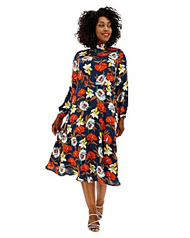 Lovedrobe All Over Floral Midi Dress