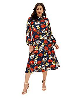 Lovedrobe All Over Floral Midi Dress