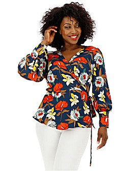 Lovedrobe All Over Floral Wrap Top
