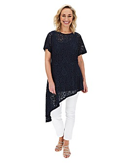 Lovedrobe Lace Dramatic Asymetric Blouse