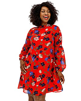 Lovedrobe Bold Floral Tie Back Dress