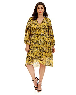 Lovedrobe All Over Printed Wrap Dress