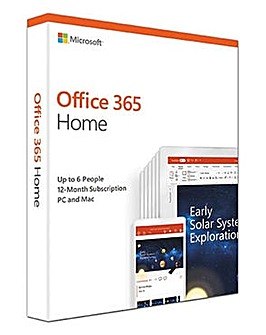 Microsoft Office 365 1 Year 6 Users Home