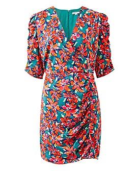 Glamorous Curve Floral Wrap Dress