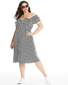 Glamorous Currve Bardot Midi Dress