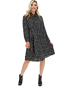 Glamorous Spot Shirt Print Dress