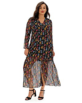 Glamorous Curve Floral Print Maxi Dress