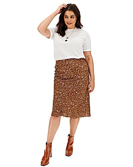 Glamorous Brown Spot Satin Skirt
