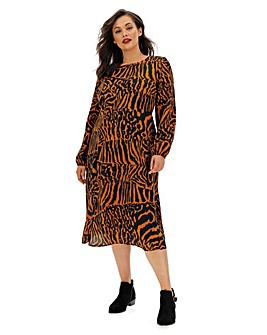 Glamorous Animal Print Midi Dress