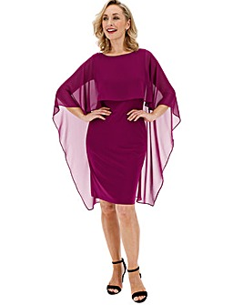 Gina Bacconi Cape Overlay Dress