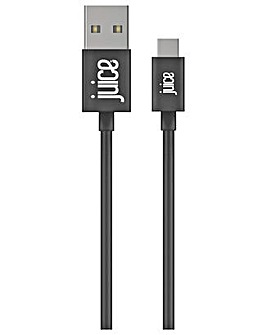 Juice USB to Type C 2m Charging Cable - Black