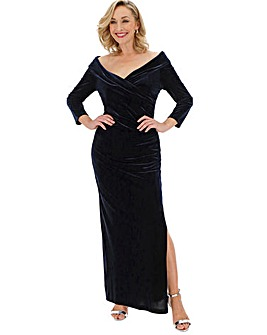 Gina Bacconi Velvet Maxi Dress