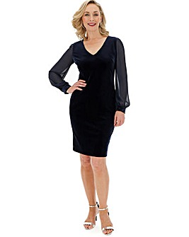 Gina Bacconi Velvet Dress