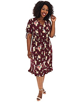 Oasis Curve Rose Wrap Dress