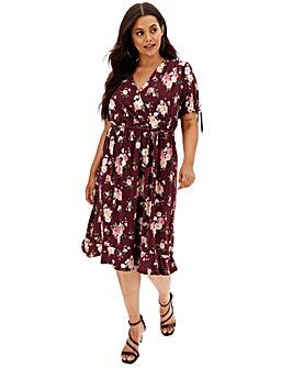 Oasis Curve Rose Wrap Dress