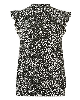 Oasis Curve Animal Sheered Neck Top