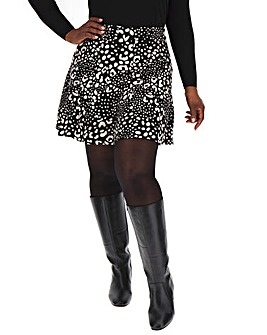Oasis Curve Animal Print Flippy Skirt