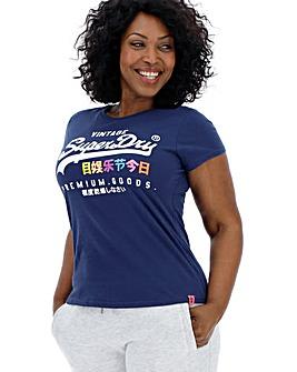 Superdry Blue Print Tshirt