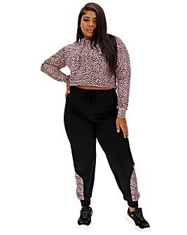 Pink Clove Printed Pannel Jogger
