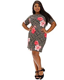 Pink Clove Leopard Print Dress