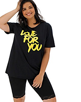 Pink Clove Love For You Slogan Tee