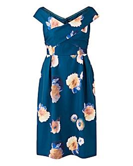 Chi Chi London Floral Print Bardot Dress