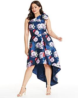 Chi Chi London Asymmetric Dip Back Dress
