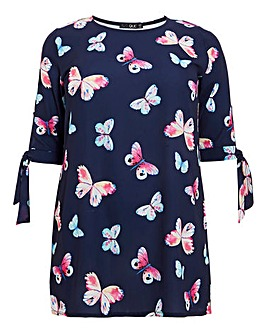 Quiz Curve Butterfly Tunic