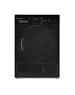8KG Condenser Sensor Tumble Dryer, Black