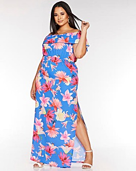 Quiz Curve Bardot Maxi Dress