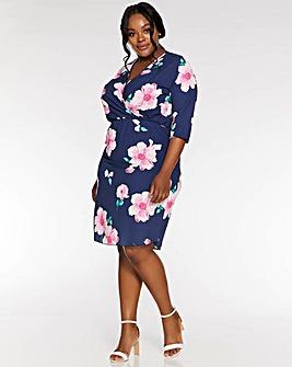 Quiz Curve Floral Wrap Dress