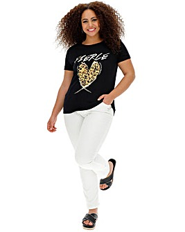 Quiz Curve Heart Slogan Tshirt
