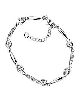 Sterling Silver Tear Bracelet