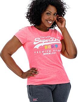 Superdry Pink Print Tshirt