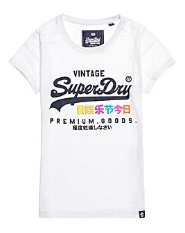 Superdry White Print Tshirt