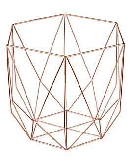 Rose Gold Wire Basket