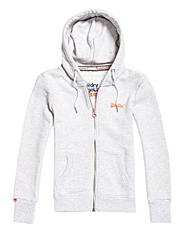 SuperDry White Zip Hoody