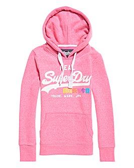 SuperDry Pink Print Hoody