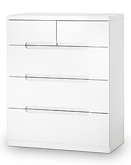 Morgan High Gloss 3+2 Drawer Chest