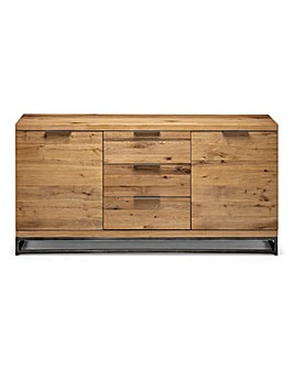 Camden Oak 2 Door 3 Drawer Sideboard