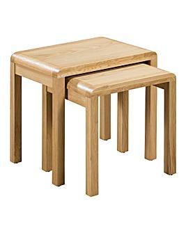 Malmo Curve Oak Nest of Tables