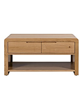 Malmo Curve Oak Storage Coffee Table