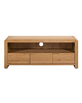 Malmo Curve Oak TV Unit